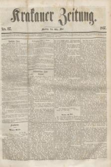 Krakauer Zeitung.[Jg.1], Nro. 117 (25 Mai 1857)