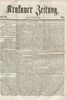 Krakauer Zeitung.[Jg.1], Nro. 189 (21 August 1857) + dod.