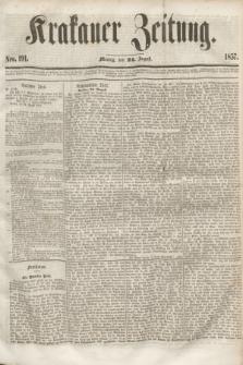 Krakauer Zeitung.[Jg.1], Nro. 191 (24 August 1857) + dod.