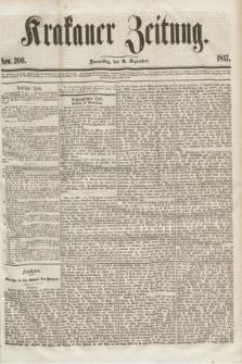 Krakauer Zeitung.[Jg.1], Nro. 200 (3 September 1857)