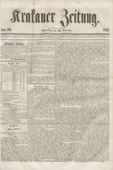 Krakauer Zeitung.[Jg.1], Nro. 211 (17 September 1857)