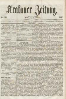 Krakauer Zeitung.[Jg.1], Nro. 213 (19 September 1857)