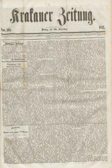 Krakauer Zeitung.[Jg.1], Nro. 215 (22 September 1857) + dod.