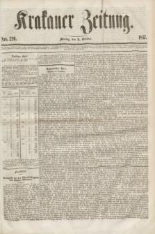 Krakauer Zeitung.[Jg.1], Nro. 226 (5 October 1857) + dod.