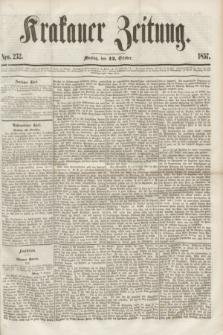 Krakauer Zeitung.[Jg.1], Nro. 232 (12 October 1857)
