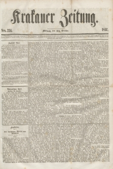 Krakauer Zeitung.[Jg.1], Nro. 234 (14 October 1857)