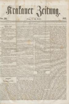 Krakauer Zeitung.[Jg.1], Nro. 236 (16 October 1857)
