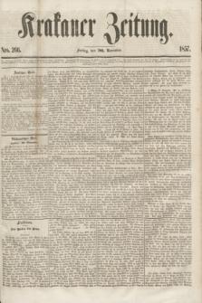 Krakauer Zeitung.[Jg.1], Nro. 266 (20 November 1857)