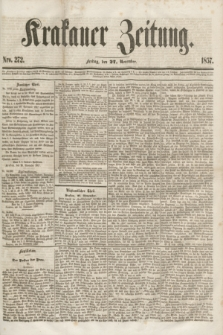 Krakauer Zeitung.[Jg.1], Nro. 272 (27 November 1857)