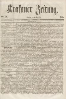Krakauer Zeitung.[Jg.1], Nro. 279 (5 December 1857)