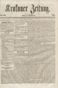 Krakauer Zeitung.[Jg.1], Nro. 285 (14 December 1857)