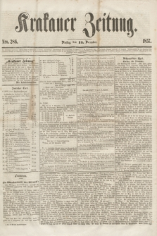 Krakauer Zeitung.[Jg.1], Nro. 286 (15 December 1857)