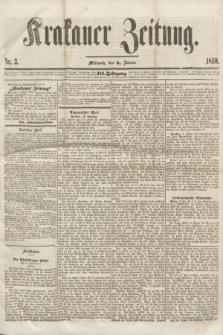 Krakauer Zeitung.Jg.3, Nr. 3 (5 Januar 1859)