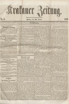 Krakauer Zeitung.Jg.3, Nr. 6 (10 Januar 1859) + dod.