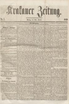 Krakauer Zeitung.Jg.3, Nr. 7 (11 Januar 1859)