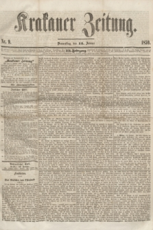 Krakauer Zeitung.Jg.3, Nr. 9 (13 Januar 1859) + dod.