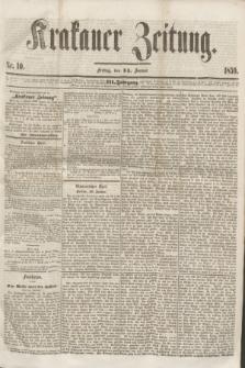 Krakauer Zeitung.Jg.3, Nr. 10 (14 Januar 1859) + dod.