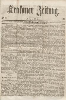 Krakauer Zeitung.Jg.3, Nr. 12 (17 Januar 1859)