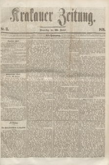 Krakauer Zeitung.Jg.3, Nr. 15 (20 Januar 1859)