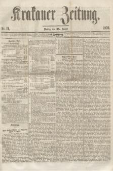 Krakauer Zeitung.Jg.3, Nr. 19 (25 Januar 1859)