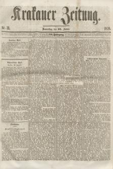 Krakauer Zeitung.Jg.3, Nr. 21 (27 Januar 1859)