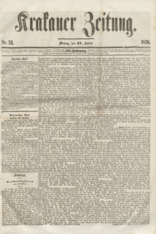 Krakauer Zeitung.Jg.3, Nr. 24 (31 Januar 1859)
