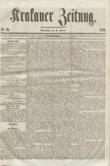 Krakauer Zeitung.Jg.3, Nr. 26 (3 Februar 1859)