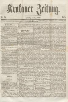 Krakauer Zeitung.Jg.3, Nr. 28 (5 Februar 1859) + dod.