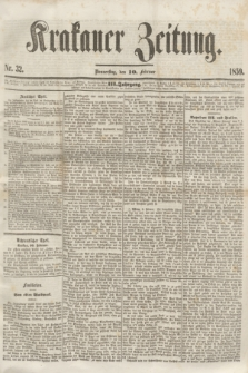 Krakauer Zeitung.Jg.3, Nr. 32 (10 Februar 1859)