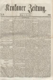 Krakauer Zeitung.Jg.3, Nr. 35 (14 Februar 1859)