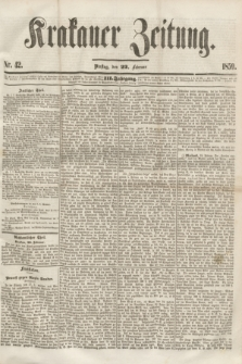 Krakauer Zeitung.Jg.3, Nr. 42 (22 Februar 1859) + dod.