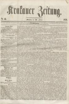 Krakauer Zeitung.Jg.3, Nr. 43 (23 Februar 1859)