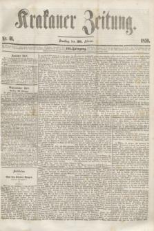Krakauer Zeitung.Jg.3, Nr. 46 (26 Februar 1859)