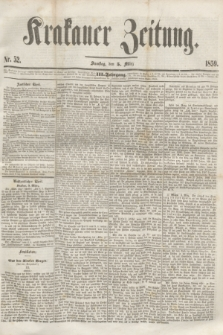 Krakauer Zeitung.Jg.3, Nr. 52 (5 März 1859) + dod.