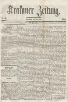 Krakauer Zeitung.Jg.3, Nr. 56 (10 März 1859) + dod.