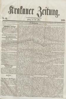 Krakauer Zeitung.Jg.3, Nr. 63 (18 März 1859)