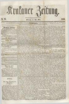 Krakauer Zeitung.Jg.3, Nr. 67 (23 März 1859)