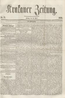 Krakauer Zeitung.Jg.3, Nr. 74 (1 April 1859)