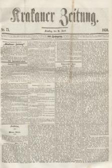 Krakauer Zeitung.Jg.3, Nr. 75 (2 April 1859) + dod.