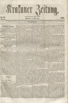 Krakauer Zeitung.Jg.3, Nr. 84 (13 April 1859)