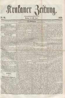 Krakauer Zeitung.Jg.3, Nr. 89 (19 April 1859)