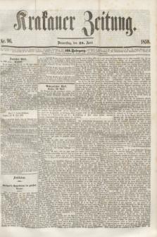 Krakauer Zeitung.Jg.3, Nr. 96 (28 April 1859)