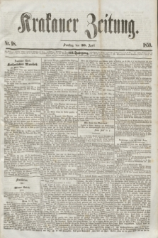 Krakauer Zeitung.Jg.3, Nr. 98 (30 April 1859) + dod.