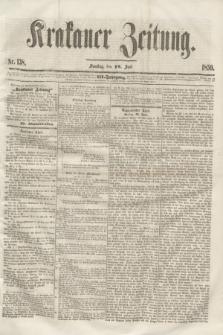 Krakauer Zeitung.Jg.3, Nr. 138 (18 Juni 1859)