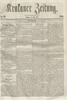 Krakauer Zeitung.Jg.3, Nr. 145 (28 Juni 1859)