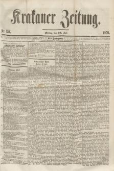 Krakauer Zeitung.Jg.3, Nr. 155 (10 Juli 1859)
