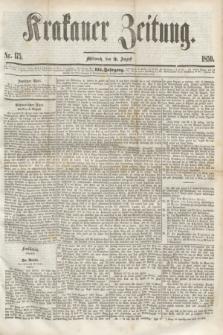 Krakauer Zeitung.Jg.3, Nr. 175 (3 August 1859)