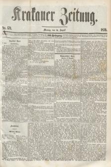 Krakauer Zeitung.Jg.3, Nr. 179 (8 August 1859) + dod.