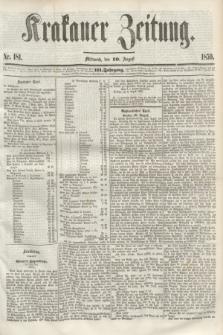 Krakauer Zeitung.Jg.3, Nr. 181 (10 August 1859)