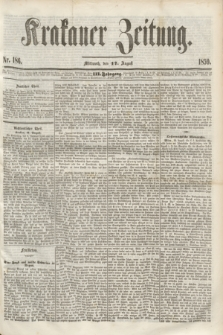 Krakauer Zeitung.Jg.3, Nr. 186 (17 August 1859) + dod.